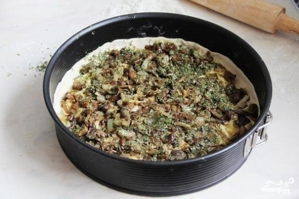 Пирог с маслятами - фото шаг 6