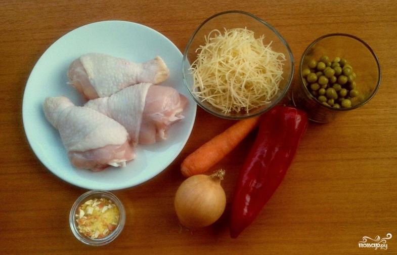 Куриный суп на овощном бульоне - фото шаг 1