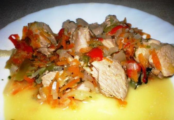 Индейка, тушеная с овощами - фото шаг 3