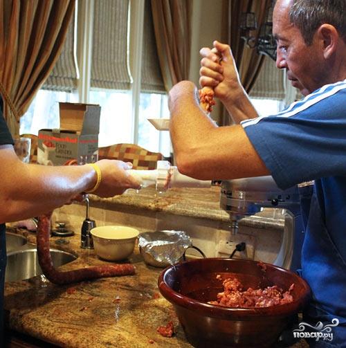 Итальянская колбаса - фото шаг 4