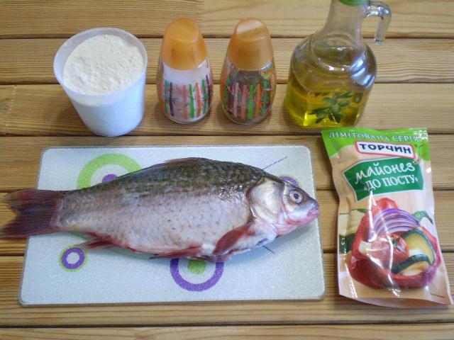 Рецепт Жареная рыба в майонезе