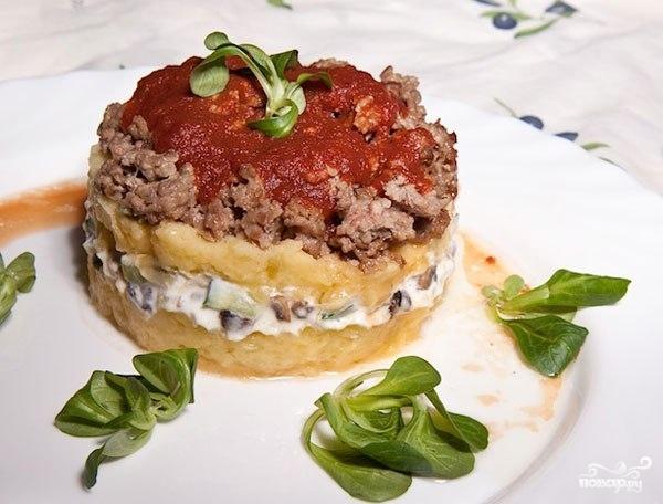 Рецепт Слоеная картошка с фаршем