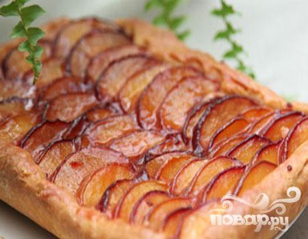Открытый пирог с персиками - фото шаг 6