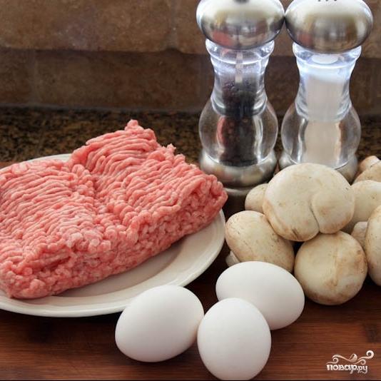 Рецепт Блинчики с мясом и грибами
