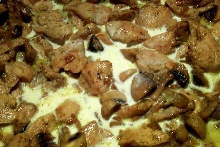 Фрикасе из курицы с грибами  - фото шаг 5