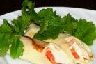 Блинчики с рыбой и сыром