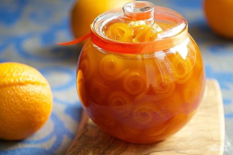 Рецепт Апельсиновое варенье пятиминутка