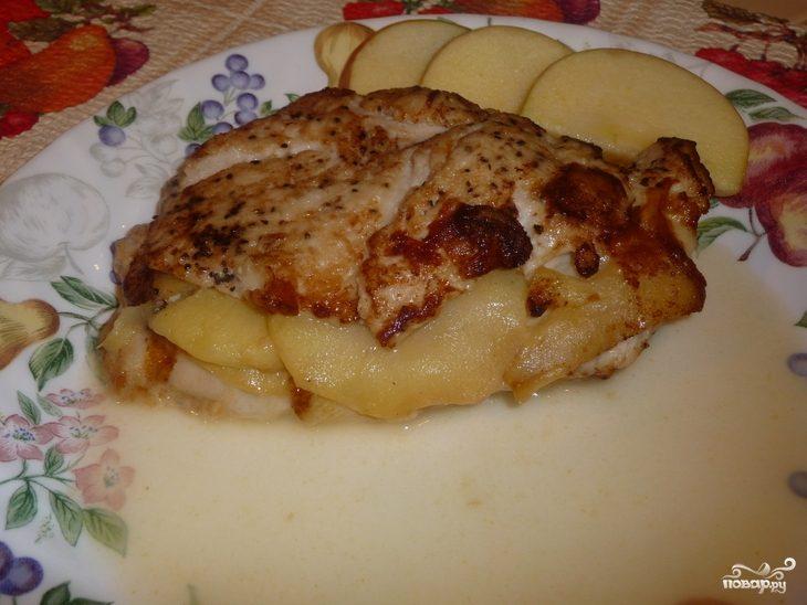 Как сделать кабачки с яблоками