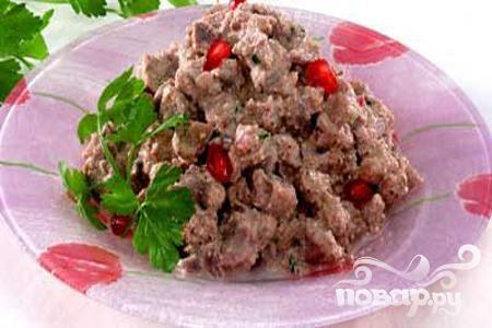 Рецепт Куриные потрошки с орехами