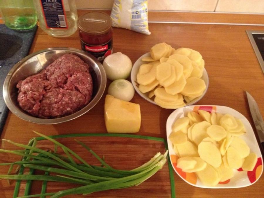 Рецепт Фарш по-французски с сыром