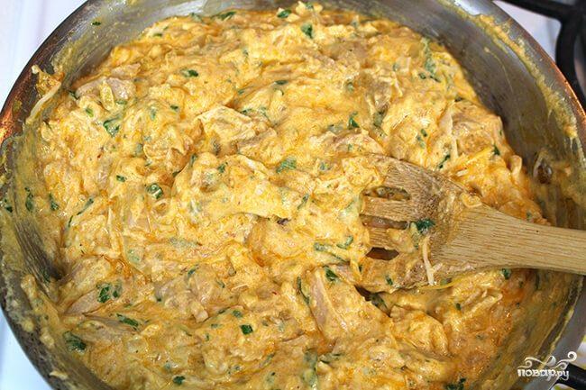 Курица с сыром и сметаной