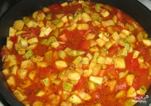 Кабачки тушеные помидорами рецепт фото