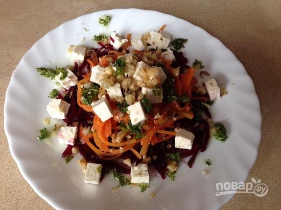 рецепт салата из моркови со свеклой фото
