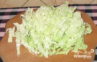 Рецепт Cалат с сухариками и капустой