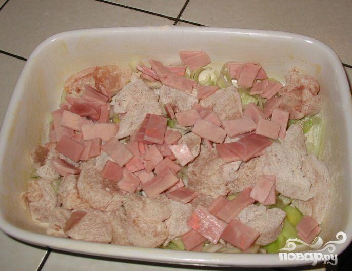 Пирог с курицей и беконом - фото шаг 2