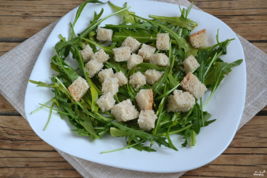 Салат с рукколой и черри - фото шаг 2