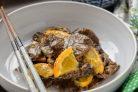 Говядина в апельсиновом соусе