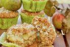 Веганские кексы с яблоками