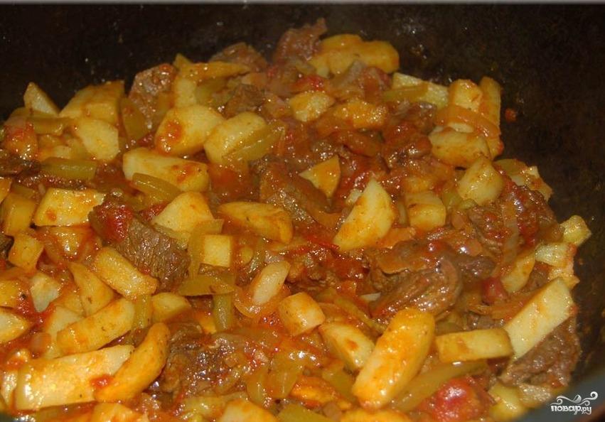 Мясо по-татарски - фото шаг 15