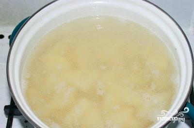 Крем-суп из шампиньонов с картошкой - фото шаг 1
