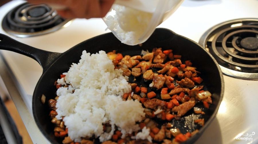 Рис с мясом и овощами - фото шаг 5