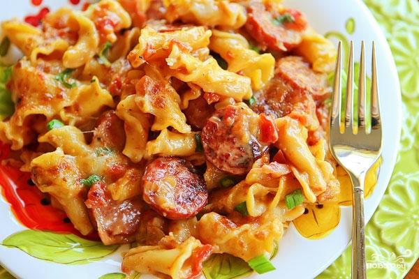 Рецепт Макароны с колбасой