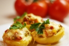 Фаршированный картофель в духовке