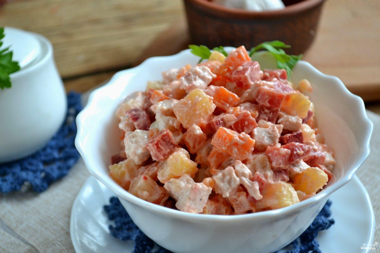 рецепты салатов из консервов с фото пошагово