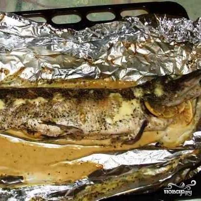 запечь стерлядь в фольге в духовке рецепт с фото