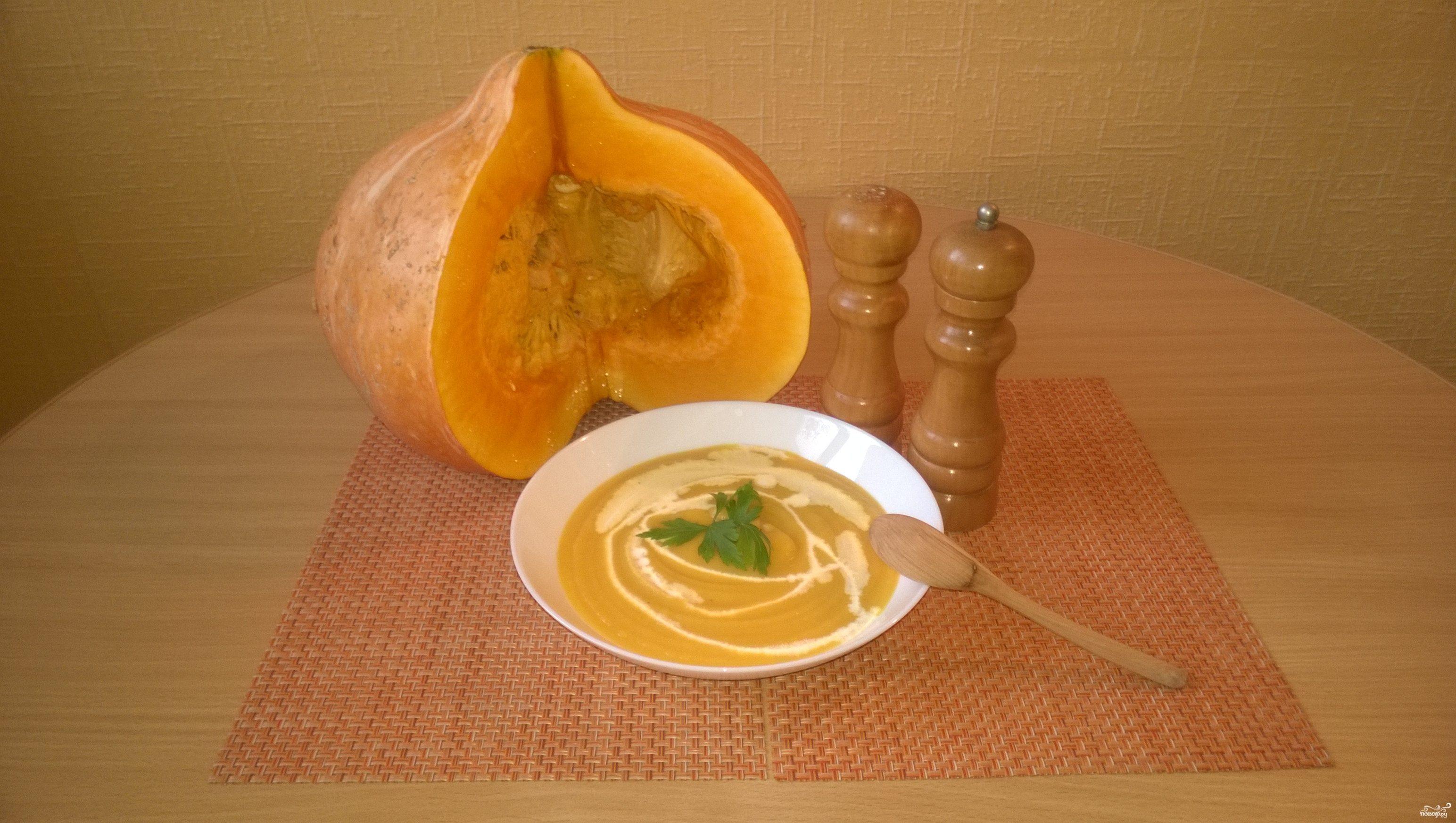 тыквенный суп-пюре рецепт со сливками и сыром и курицей
