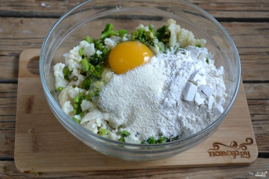 Котлеты из брокколи и цветной капусты - фото шаг 4