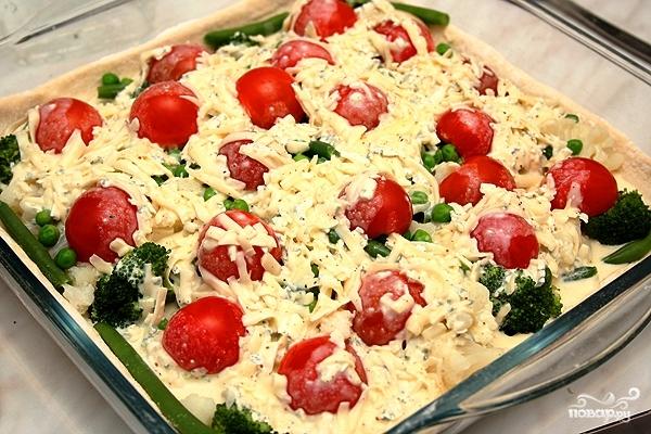 Цветной пирог с овощами - фото шаг 12