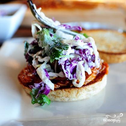 Куриный сэндвич барбекю - фото шаг 6