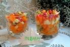 Веррины с хурмой и моцареллой Новогоднее чудо