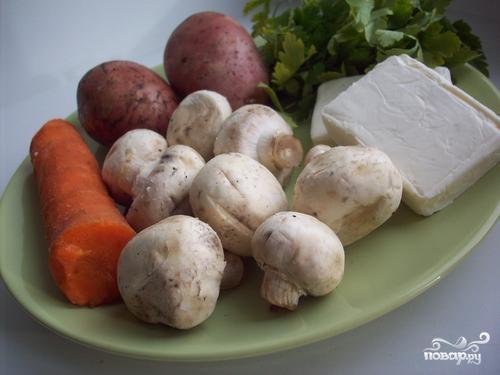 Итальянский суп с грибами - фото шаг 1