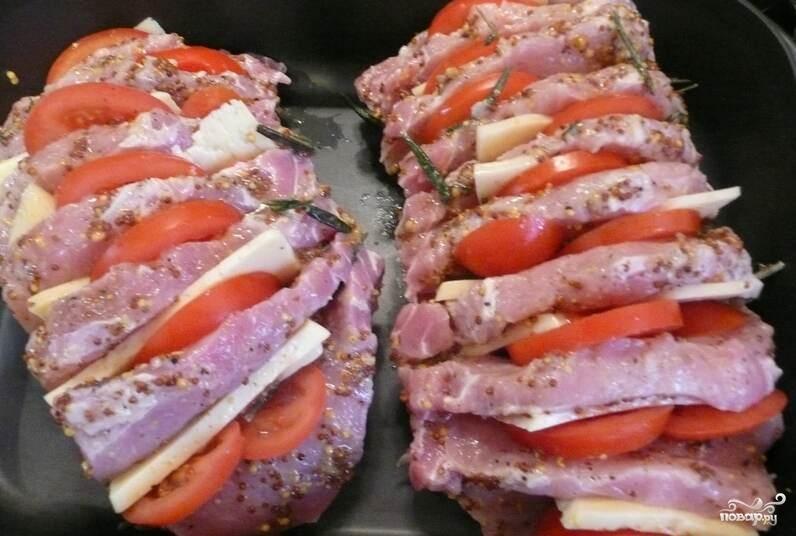 Рецепт Свинина с помидорами