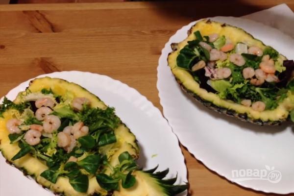 салат ананасовый букет пошаговый рецепт