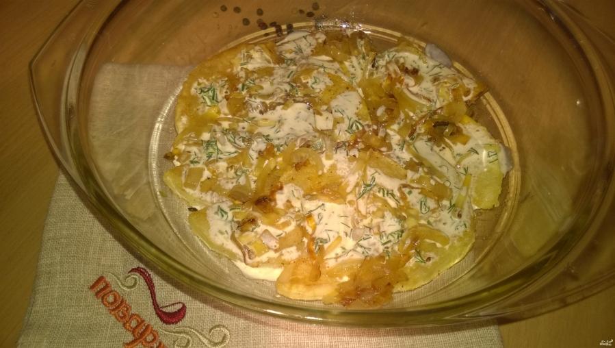 Кабачки в духовке под сметанным соусом - фото шаг 7