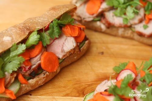 Сэндвичи со свининой по-вьетнамски