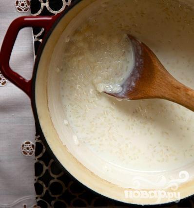 Рисовый пудинг с ежевикой - фото шаг 1