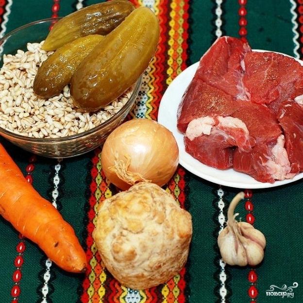 Рецепт Суп из перловой крупы с мясом
