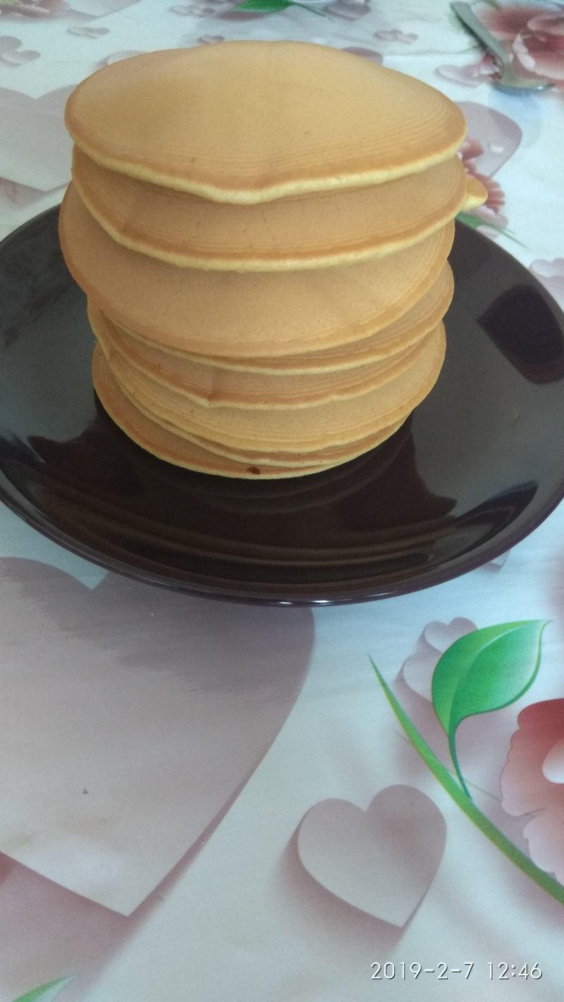 Ванильные панкейки на молоке - рецепт пошаговый с фото