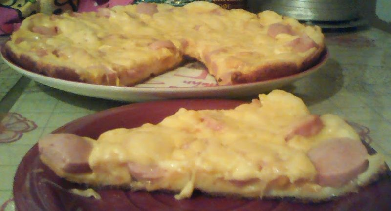 Быстрая пицца с колбасой и помидорами на пите (без теста) - рецепт пошаговый с фото