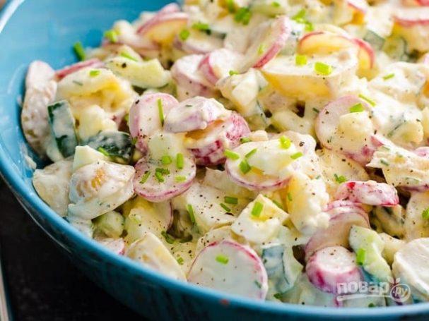 Весенний картофельный салат