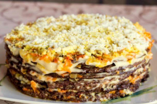Печеночный торт классический