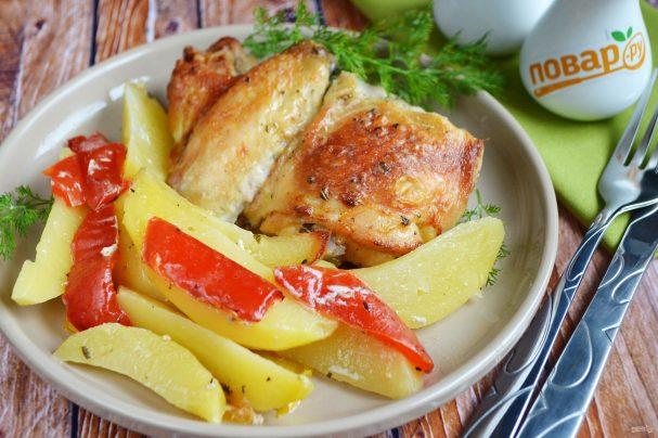 Курица с перцем и картофелем