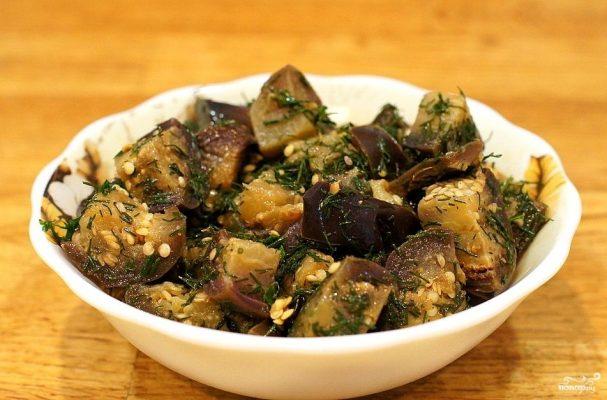 Салат из баклажанов с чесноком