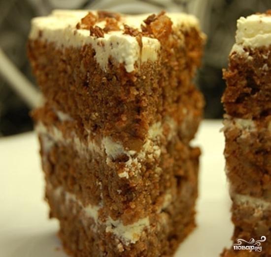 торт с грецкими орехами рецепт с фото
