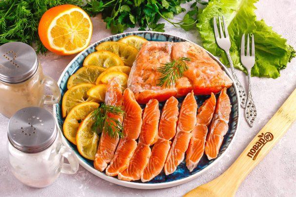 Засолка красной рыбы с лимоном