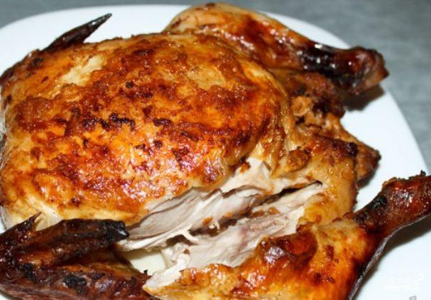 Курица в духовке целиком-видео